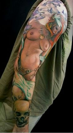 Sexy sleeve tattoo See More : http://luxurystyle.biz/tattoo/