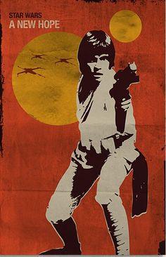 Star Wars: A New Hope (Episode IV), 1977 ~ Alternative Movie Poster by SanaSini Star Wars Poster, Star Wars Art, Mundo Geek, Star Wars Episode Iv, Alternative Movie Posters, A New Hope, Love Stars, Cultura Pop, Comic Art