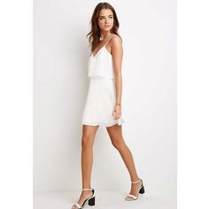 NEW cami dress Pretty white flounce cami layered dress. Dress it up or down! Brand new with tags. Forever 21 Dresses