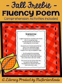 This FREE POEM by @MsJordanReads will be sure to bring some fluency fun into your classroom for the fall season! (Comprehension activities included!)