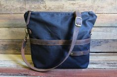 Waxed Canvas with Leather Bottom - Large (175USD)