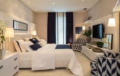 Home Decoration On A Budget 40 Navy Master Bedroom Decor Ideas Decoration On A Budget 40 Navy Master Bedroom Decor Ideas Room, Interior, Home, Home Bedroom, Couple Room, Luxurious Bedrooms, House Interior, Remodel Bedroom, Master Bedrooms Decor
