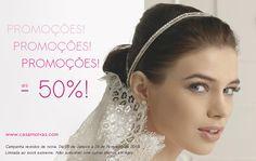 Visite-nos e não perca esta campanha! #vestidosdenoiva #promoção #casarnoivas #casamento #wedding #party #festa #2015