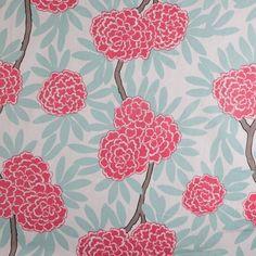 Mint Fleur Chinoise Fabric