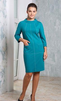 Купить элегантное платье бирюзового цвета в интернет-магазине (цвет: бирюзовый) | ВЕЛ-М-233Т-09