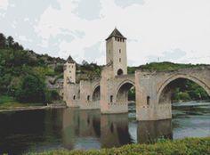 Cahors Bridge France Cross Stitch Pattern by Mydreamsofavalon, $6.00