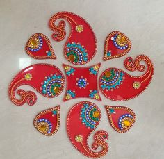 Acrylic Decorative Rangoli