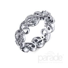 The band that makes you smile can be found at Amour Jewellers.   Parade Design and Amour Jewellers.