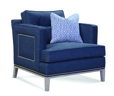 Newton Chair in navy by Libby Langdon for Braxton Culler.