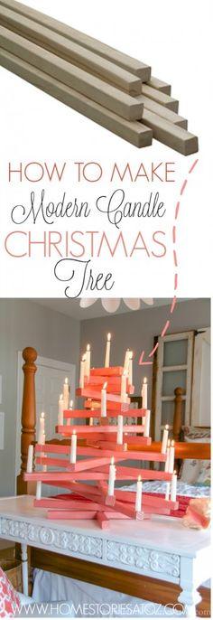 How to make modern candle christmas tree