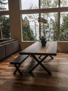 TABLE SELENA - BOIS DE GRANGE - GRADE B - BANC #surmesure #lusine #banc #selena #boisdegrange #table Outdoor Tables, Outdoor Decor, Selena, Dining Table, Outdoor Furniture, Inspiration, Home Decor, Barn, Dinner Room