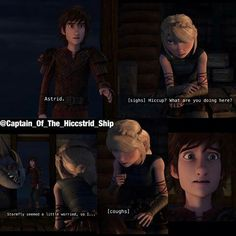 Hiccup looks absolutely terrified in the last picture.