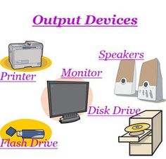 Computer output devices, output device of computer in English. List of output devices Output Device, Decoupage Vintage, Disk Drive, Computer Science, Grammar, Flash Drive, Printer, Phone, Lord Shiva