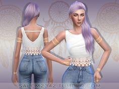 Lace Crop Top at Salem2342 via Sims 4 Updates