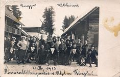 PK AK Steiermark Foto Krieglach 1913 Roseggers Waldheimat Rennen Schlitten Poster, Painting, Pictures, Sled, Postcards, Woodland Forest, Painting Art, Paintings, Painted Canvas