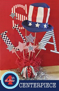 Stars and Stripes = 4th f July, Presidents' Day, election, etc.