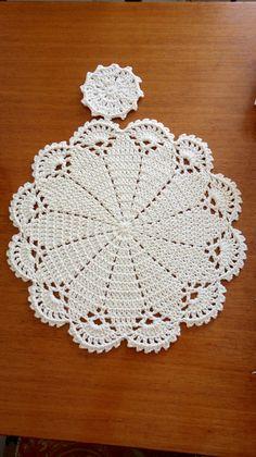 Flower crochet doilies, Crochet placemats, Cotton beige doilies, Thanksgiving gift idea - Her Crochet