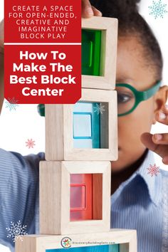 Discovery Building Sets wants you to be successful, organizing a block play area that is fun, safe, and welcoming. By establishing a block center for block play, you create a space for open-ended, creative, and imaginative play. Take your child's block play to the next level and learn how to set up the best block play area! #DiscoveryBuildingSets Wooden Blocks For Kids, Blocks For Toddlers, Wooden Building Blocks, Kids Blocks, Building Toys, Toddler Preschool, Toddler Toys, Toddler Activities, Block Center