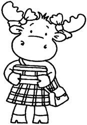 Riley and Company Cling Mounted Rubber Stamp - School Girl Riley,$6.79