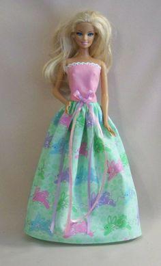 Handmade Barbie Clothes Rabbit Print by PersnicketyGrandma on Etsy, $7.00