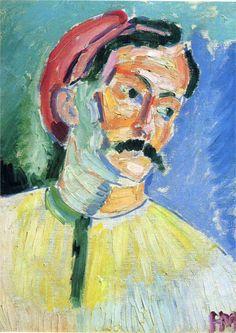 Henri Matisse. Retrato de Andre Derain, 1905. Tate Gallery, Londres. WikiPaintings.org