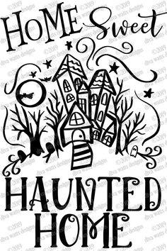 Halloween Vinyl, Halloween Quotes, Halloween Signs, Halloween 2020, Halloween Cards, Baby Halloween, Halloween Shirt, Spooky House, Stencil Printing