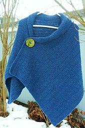 This wrap started out as a shawl. When I was halfway done with it, I added a button and turned it into a buttoned wrap similar to one I had seen in the window of a boutique in Naples, Florida. I am glad I did this for many reasons. It is easy to wear, it looks great with jeans or slacks, and it is quite versatile. The large button is actually just tied on with yarn so I can change buttons when the mood hits adding one, two or even three! It can be worn with buttons removed and pinned with a…