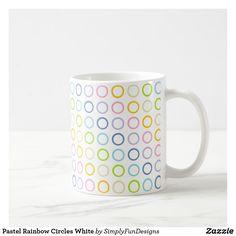 Pastel Rainbow Circles White Coffee Mug