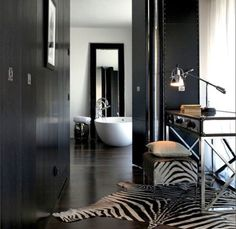 OutSourceSol is a trusted & leading worldwide supplier of Zebra skin rug & Zebra Ottoman. Each Zebra rug is graded and inspected in the U.S to assure a quality zebra hide rug. Zebra Skin Rug, Zebra Rugs, Luxury Hotel Design, Interior Decorating, Interior Design, Contemporary Bathrooms, Tuscany, Modern, House