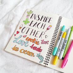 Handlettering inspiration via Luloveshandmade