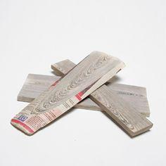 newspaper glued together and sanded and cut like wood - Vij5 website