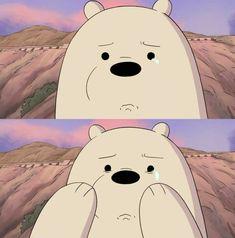 We bear bears Ice Bear We Bare Bears, We Bear, Foto Cartoon, Bear Meme, Desenhos Cartoon Network, Vintage Cartoons, We Bare Bears Wallpapers, Cartoon Profile Pictures, Sad Wallpaper