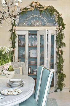 Blue & White Holiday House