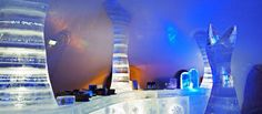 Looking to chill? Stay in an ice hotel Hôtel de Glace, Québec City, Canada What must be the best hotel experienc. Snow Castle, Ice Hotel, Honeymoon Places, Sleeping Under The Stars, Holiday Places, Quebec City, Top Destinations, Water Slides, Vacation Packages