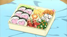 10 images about Anime Bento 🍱 on We Heart It Anime Bento, Aesthetic Food, Aesthetic Anime, Moe Manga, Cute Bento, Gekkan Shoujo Nozaki Kun, Food Cartoon, Bento Recipes, Bento Ideas