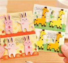 Lovable Animal Sticky Note Tabs