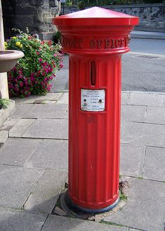 A rare example of a Victorian Pillar Box. Eastgate, Warwick.