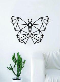 Geometric Butterfly Animal Design Decal Sticker Wall Vinyl Decor Art L – boop decals Decal Wall Art, Geometric Art Animal, Geometric Animals, Geometric Drawing, Wall Drawing, Geometric, Custom Word Art, Tape Art