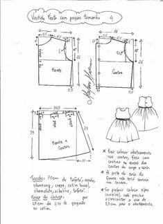 Выкройка платья для девочки возраст от 1 года до 14 лет (Шитье и крой) | Журнал Вдохновение Рукодельницы
