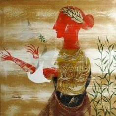 Greece Painting, Greek Art, Disney Characters, Fictional Characters, Illustration Art, Arts And Crafts, Gemstones, Disney Princess, Artist