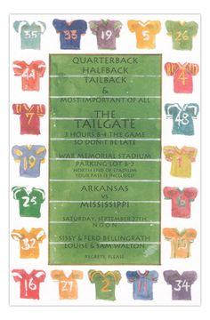 Pick Your Team Football Party Invitation from Odd Balls at www.PolkaDotDesign.com