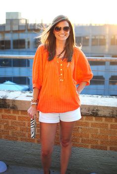 Love this Trina Turk blouse, but can't find it in orange