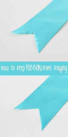 This quick and easy trick will prevent frayed ribbon ends for good! See what it is and why it works.