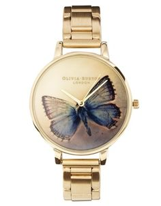 Image 1 of Olivia Burton Gold Butterfly Bracelet Watch £95
