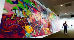 """""""Terminal Kings"""" by Sam Flores, David Choe, and Highraff; Denver International Airport (1 of 2)"""