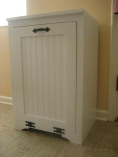 Tilt out wood trash can cabinet   Do It Yourself Home Projects from Ana White by audrey