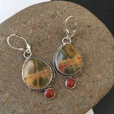 A personal favorite from my Etsy shop https://www.etsy.com/listing/250310677/fall-colors-jasper-dangle-earrings