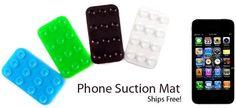 Free Cellphone Suction Mat