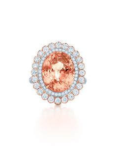 Tiffany & Co. Blue Book Collection padparadscha sapphire ring with diamonds set in rose gold and platinum (£305,000).
