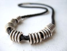 Tube Bead Necklace Daily Wear Contemporary Men by eacarjewelry
